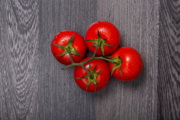 Bunch of fresh tomatoes, top view