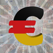 canvas print picture - Euro symbol with German flag on Euro currency illustration