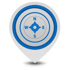Compass pointer icon on white background