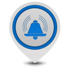 alarm pointer icon on white background