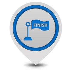 Finish pointer icon on white background