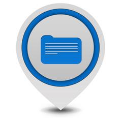 Folder pointer icon on white background