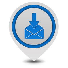 send pointer icon on white background