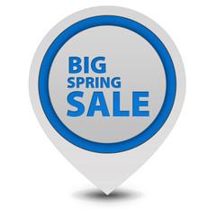 Spring sale pointer icon on white background