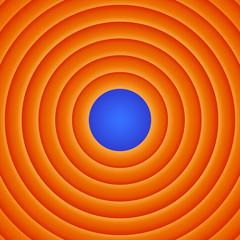 Movie end abstract background