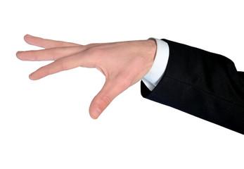 Business man hand control