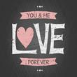 Valentine's Day Chalkboard Card
