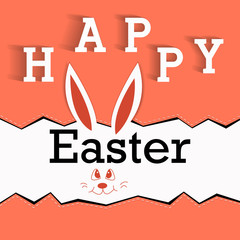Very Happy Easter - Easter bunny ears vector