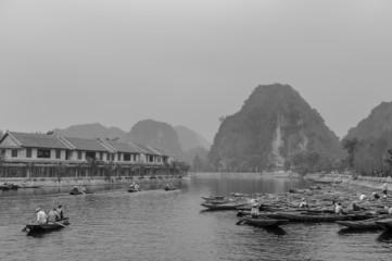 landscape of hao lu, Tam Coc, vietnam