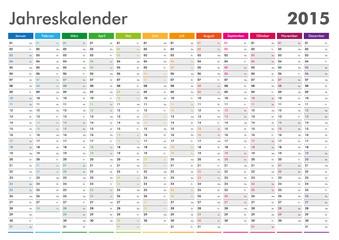 Kalender 2015 Jahresplaner Jahreskalender Wandkalender