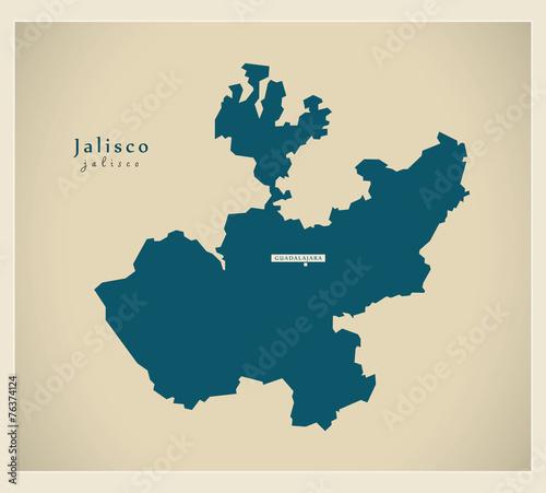Modern Map - Jalisco MX - 76374124