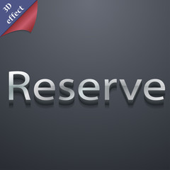 Reserved icon symbol. 3D style. Trendy, modern d