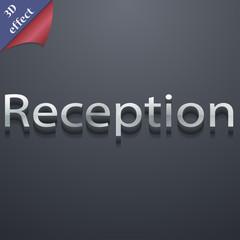 Reception icon symbol. 3D style. Trendy, modern d