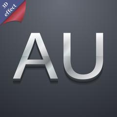 australia icon symbol. 3D style. Trendy, modern de