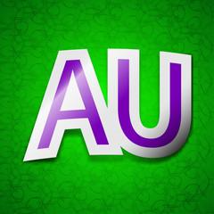 australia icon sign. Symbol chic colored sticky labe
