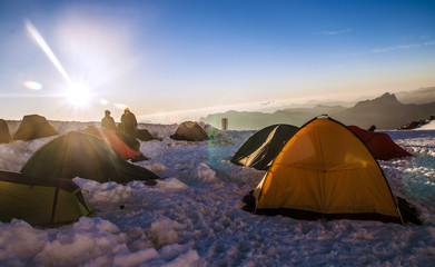 Sunrize on Mont Blanc