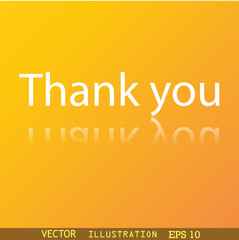 Thank you icon symbol Flat modern web design wit