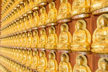 Background of golden buddha statue