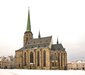 St. Bartholomew's Cathedral in Plzen. Czech Republic