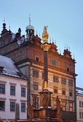 Plague column in Plzen. Czech Republic