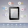 Zdjęcia na płótnie, fototapety, obrazy : Tablet infographic template