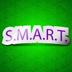 Smart  icon sign. Symbol chic colored sticky label o