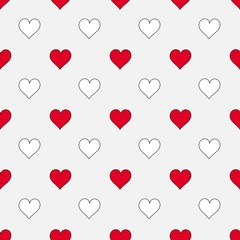 Hearts seamless pattern. Vector illustration