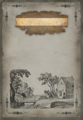 Old village illustration