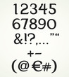 Numerals and punctuation marks