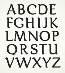 Majuscule Alphabet inspired by the roman capitals