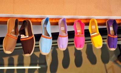 Shoe store, summer sandals, Spain
