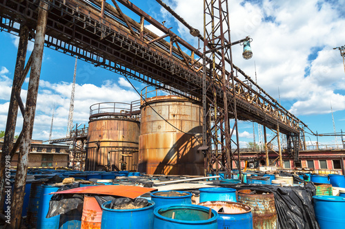 Several barrels of toxic - 76378918