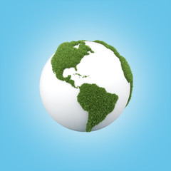 earth with grass america