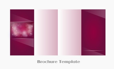 Pink ornaments brochure template