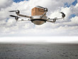 canvas print picture - drone delivery