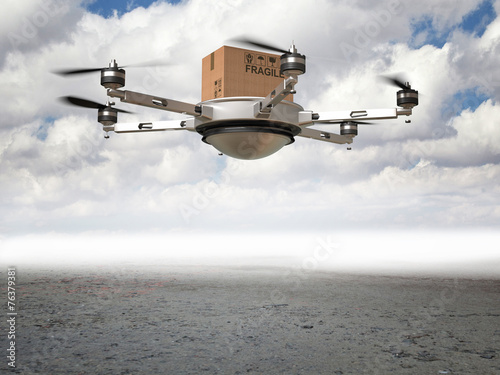 canvas print picture drone delivery