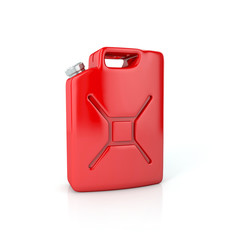 Fuel container canister. 3d illustration isolated