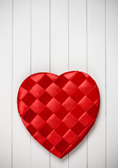 Valentine's: Heart Shaped Candy Box on White