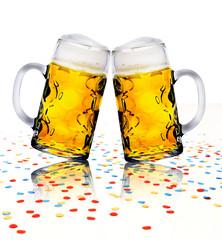 Konfetti und Bier