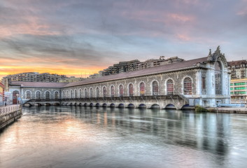 Batiment des Forces-Motrices, Geneva, Switzerland, HDR