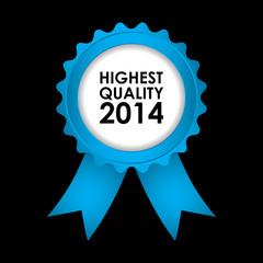 blue badge - highest quality 2014
