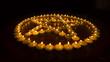 Burning Candles in a Pentagram
