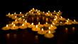 Leinwandbild Motiv Burning Candles as a Star