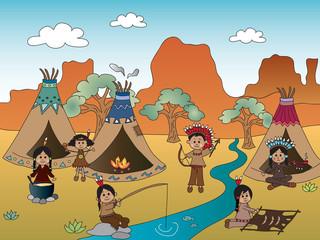 american indian village