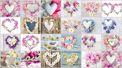 Love, romantic: Hearts from flowers :)