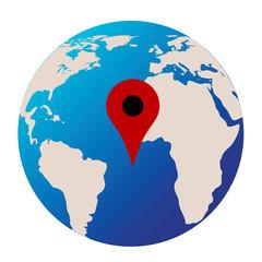 localisation sur la planète