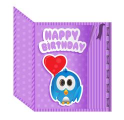 birthday card purple