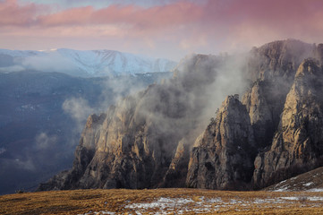 Mountains burn