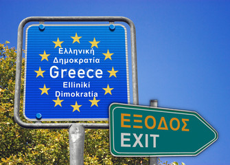 Schild Greece, Exit, FoMo
