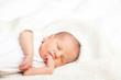 canvas print picture - Sleeping newborn baby